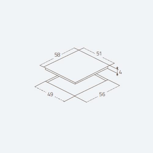 صفحه برقی Cristallo 4ES60CBV زیگما | آشپزخانه پارسه