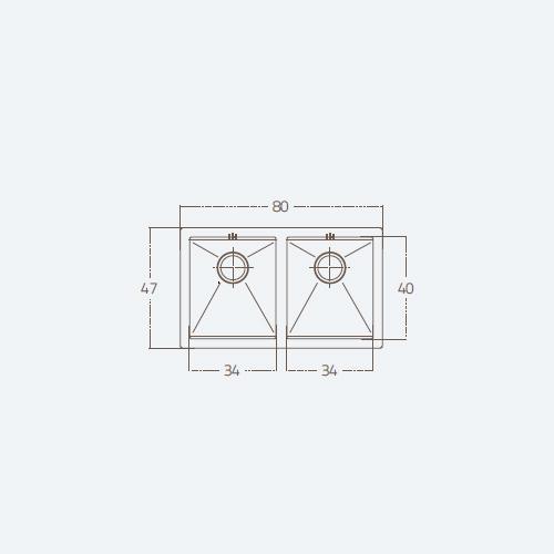 سینک توکار مدل 74 ST U2B زیگما | آشپزخانه پارسه