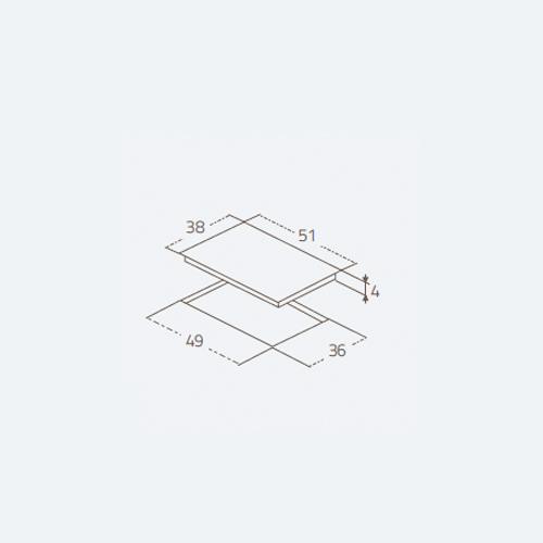 صفحه برقی Cristallo 2ES40CBV زیگما | آشپزخانه پارسه