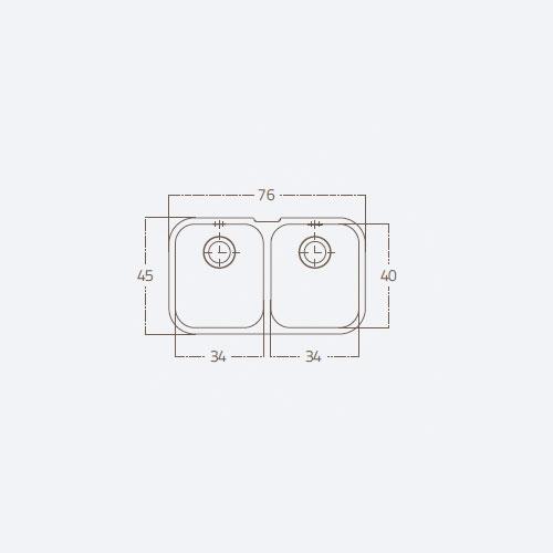 سینک توکار مدل 34 ST U2B زیگما | آشپزخانه پارسه