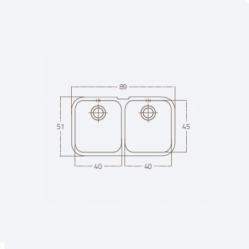 سینک توکار مدل 40 ST U2B زیگما | آشپزخانه پارسه
