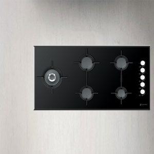 گاز رومیزی Cristallo 5G Side 100 Glass Black زیگما