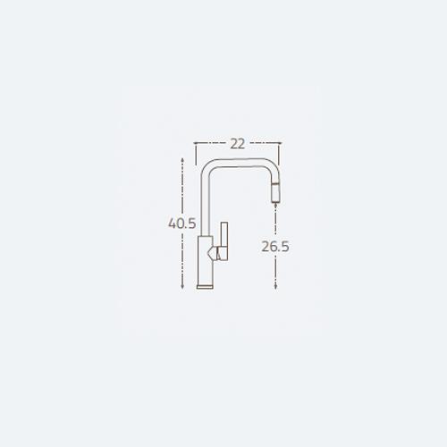شیر آشپزخانه LUZ-CHROME زیگما | آشپزخانه پارسه