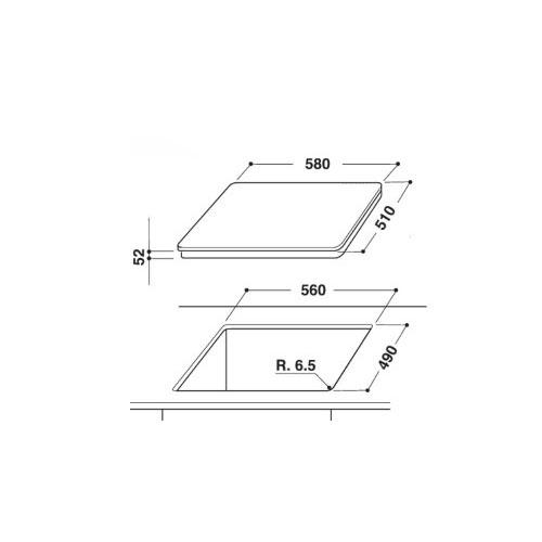 صفحه برقی مدل NIC 641 B آریستون | آشپزخانه پارسه