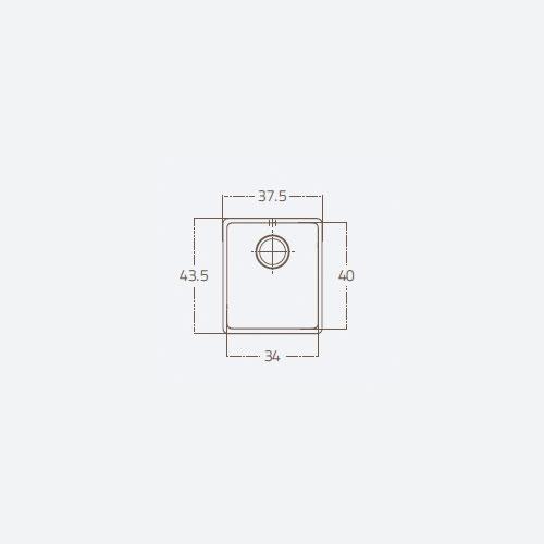 سینک توکار مدل 34 ST U1B زیگما | آشپزخانه پارسه