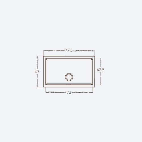 سینک توکار مدل 71 ST F1B زیگما | آشپزخانه پارسه