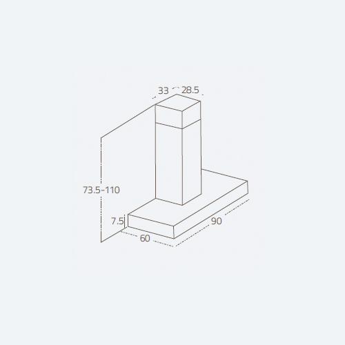هود TEOR S90 ISLAND زیگما | آشپزخانه پارسه