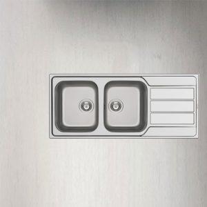 سینک ظرفشویی توکار مدل ATHENA EXTRA 2B 1D پیرامیس| آشپزخانه پارسه
