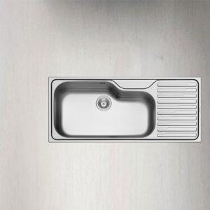 سینک ظرفشویی توکار مدل TITAN 1B 1D پیرامیس|آشپزخانه پارسه