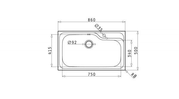 سینک ظرفشویی توکار مدل TITAN 1B پیرامیس| آشپزخانه پارسه