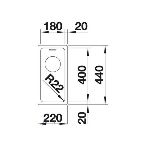 سینک زیر کورینی مدل ANDANO 180-U بلانکو| آشپزخانه پارسه