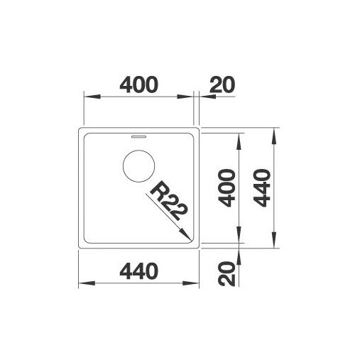 سینک زیر کورینی مدل ANDANO 400-U بلانکو| آشپزخانه پارسه