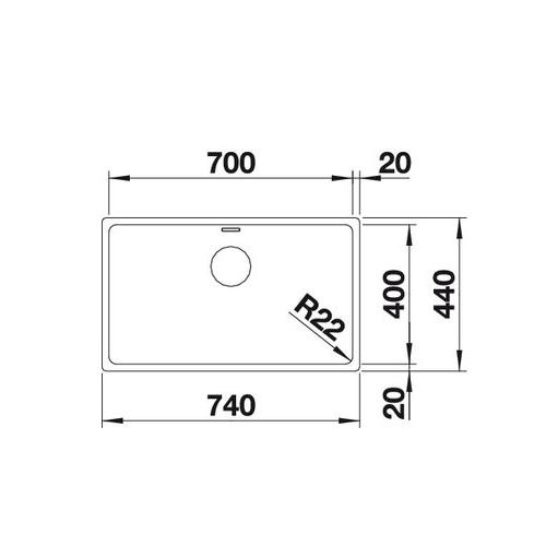 سینک زیر کورینی مدل ANDANO 700-U بلانکو| آشپزخانه پارسه