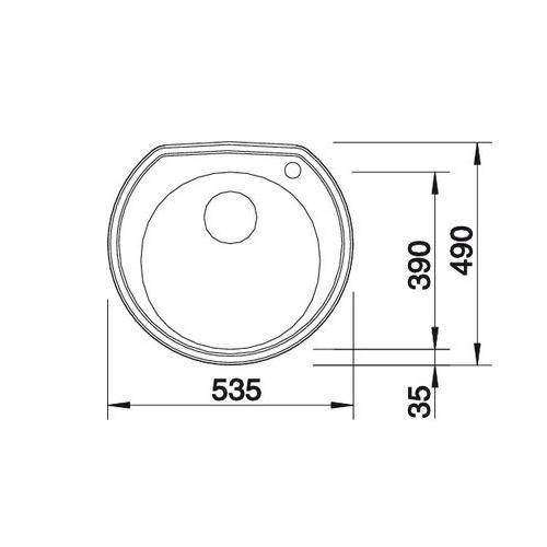 سینک توکار مدل RONDOVAL بلانکو| آشپزخانه پارسه
