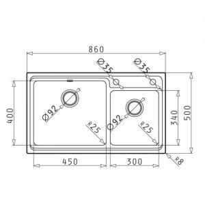 سینک ظرفشویی توکار مدل STUDIO پیرامیس| آشپزخانه پارسه