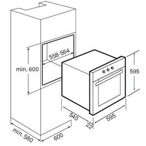 فر برقی توکار مدل HE 635 تکا | آشپزخانه پارسه