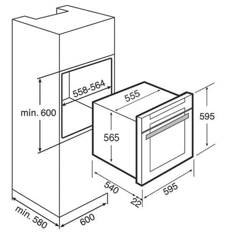 فر برقی توکار مدل HL 890 INOX تکا | آشپزخانه پارسه