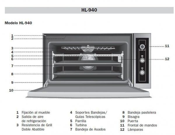 فر برقی توکار مدل HL 940 تکا | آشپزخانه پارسه