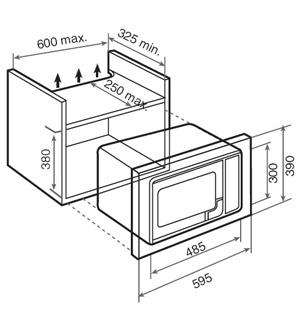 مایکروویو توکار مدل TMW 18 BI تکا | آشپزخانه پارسه