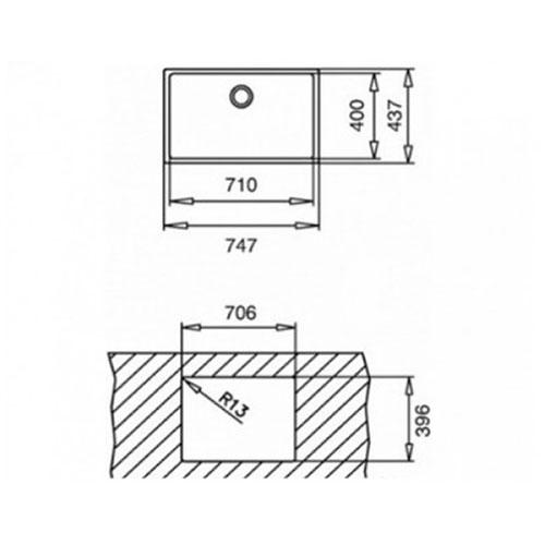سینک توکار مدل R15 71/40 تکا | آشپزخانه پارسه
