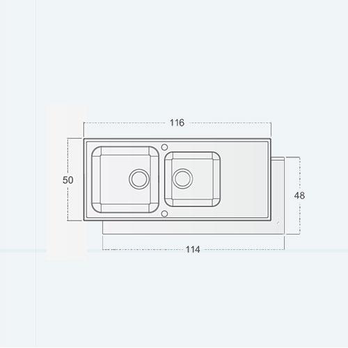 سینک توکار مدل Select st center AUTO زیگما | آشپزخانه پارسه