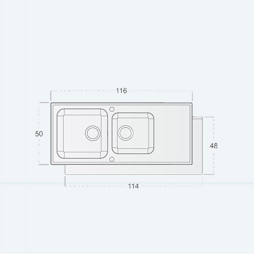سینک توکار مدل Easy st square COVER زیگما